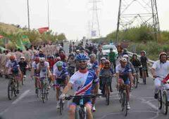 همایش دوچرخه سواری همیاران پلیس در آبشار تهران