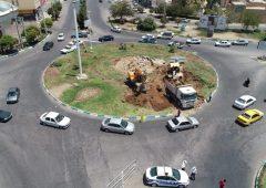 آغاز ساماندهی میدان سید حسن نصرا… و تبدیل آن به چهارراه
