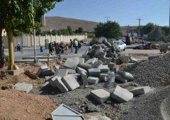 احداث میدان بلوار فارابی شمالی شهرکرد به پیشرفت ۸۰ درصدی رسید