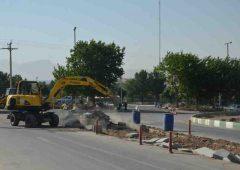 عملیات ساخت میدان بلوار فارابی شمالی شهرکرد به پایان رسید