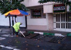 آماده باش نیروهای خدمات شهری منطقه ۷ در روزهای بارانی